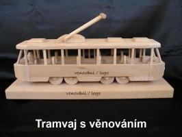 Tramvaj TATRA - na podstavci s možným věnováním