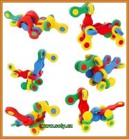 Zvířátka skládací hračka z pěny CZ výroby