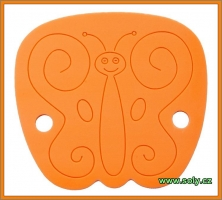 Dětský podsedák motýl žlutý CZ výroby