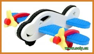 Letadla stavebnice z pěny CZ výroby, hračky
