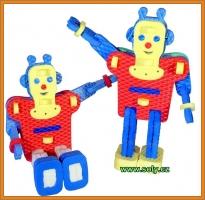 Robot puzzle, hračka pro nejmenší děti