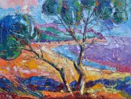 Světlo a stín, originální ručně malovaný obraz olej na plátně