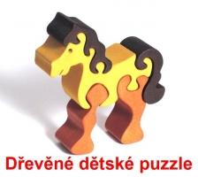Koníček kůň dřevěné dětské skládací puzzle