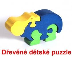 Hroch z afriky dřevěné dětské skládací puzzle