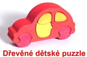 Autíčka dřevěné dětské skládací puzzle