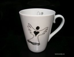 Hrnek z porcelánu s motivem anděla 0,4 l