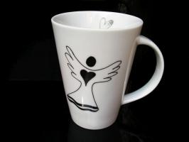 Český porcelánový hrnek 0,4 l s andělem