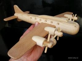 Dřevěné letadlo Boeing, dřevěná hračka dárek