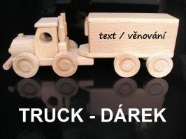Truck dárky pro řidiče, dřevěný kamion