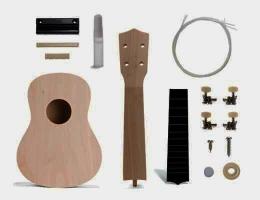 Složte si kytaru Ukulele, stavebnice hrací strunné nástroje