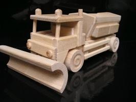 Sypač | sněžný pluh | posypový vůz | dřevěná hračka | dárek