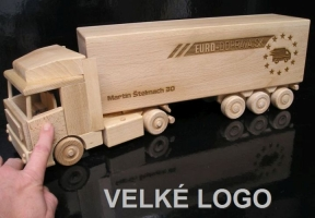 Objednávka laserované 1x VELKÉHO LOGA na návěs kamionu