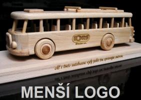 Objednávka 1 ks laserovaného menšího loga, např. autobus, vysokozdvih