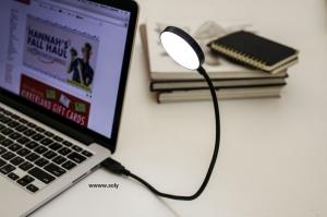 USB LED svítilna, lampička k PC, počítači s nastavitelným krkem
