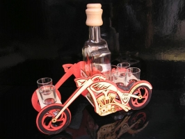 Dárkové láhev a sklo | motorka