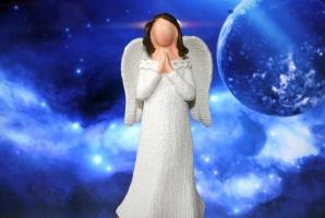 Bílý anděl ochránce pro štěstí a zdraví
