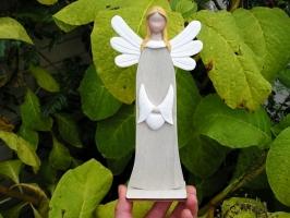 Anděl s křídly soška dekorace