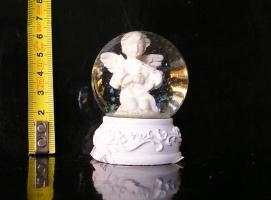 Sněžítko, vánoční anděl, skleněná koule, dekorace