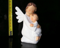 Anděl bílý maminka a dítě, sošky dekorace