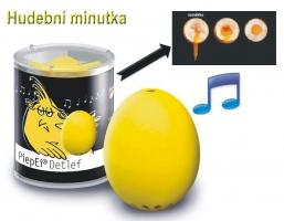 Detlef - uvaří vajíčko jen na měkko. Přesná hudební minutka pro vaření vajec.