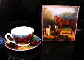 Šálky na kávu kůň, hrnky na kávu s podšálkem