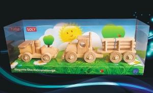 Dřevěné hračka vozidla, autíčko + kamión