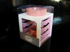 Růžová aromalampa, dárek