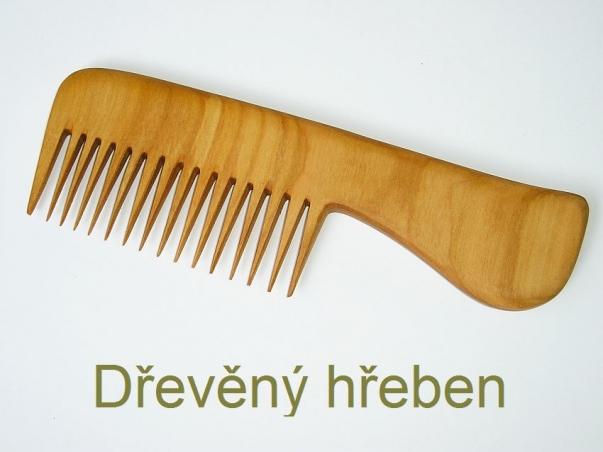 Dřevěný hřeben na vlasy Eudóra