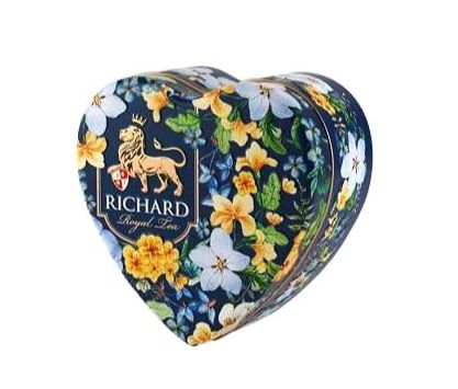 Černý sypaný čaj s příchutí Richard Royal Heart