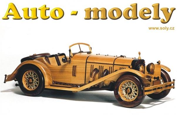 MERCEDES BENZ SSKL SPORT (1931) dřevěná replika
