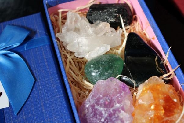 Dárkový set drahých kamenů, sada 3