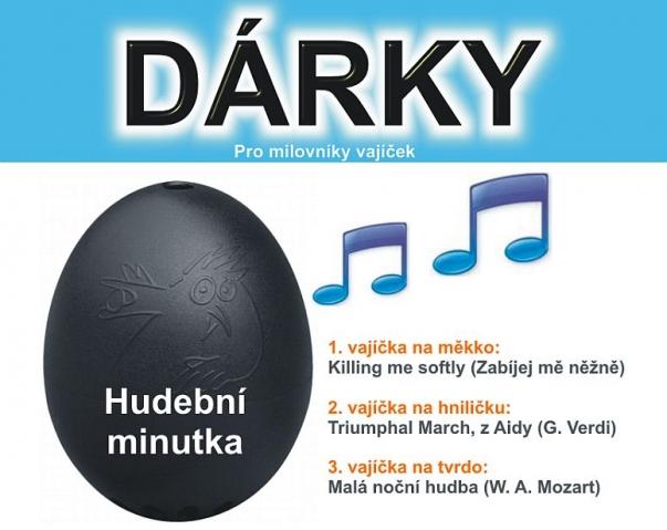 ČERNÝ hudební vařič vajíček
