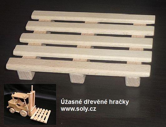 Paleta k vysokozdvižnému vozíku, dřevěné hračky