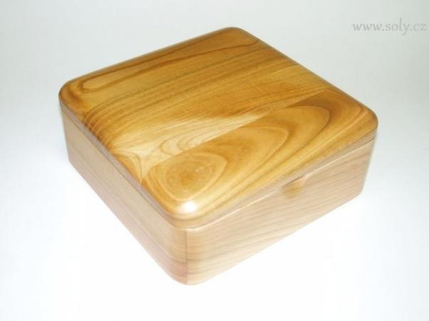 Krabička na šperky dřevěná světlá české výroba