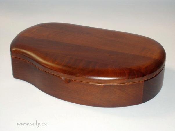 Krabička na šperky - tmavé dřevo české výroby