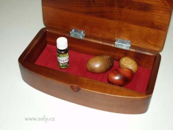 Dřevěné šperkovnice z tmavého dřeva české výroby