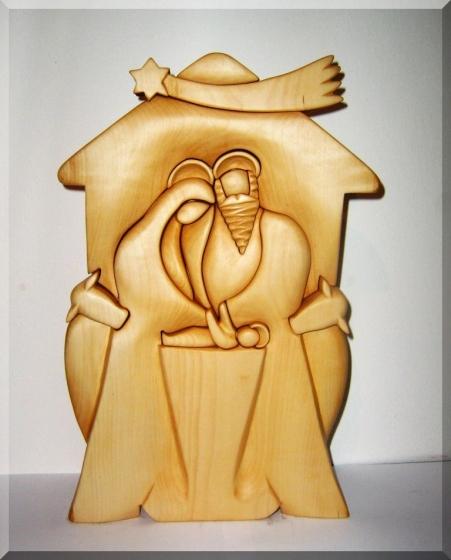 Betlém ze dřeva. Soška
