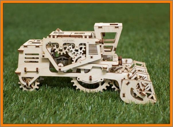 Kombajn mechanické puzzle, 3D stavebnice
