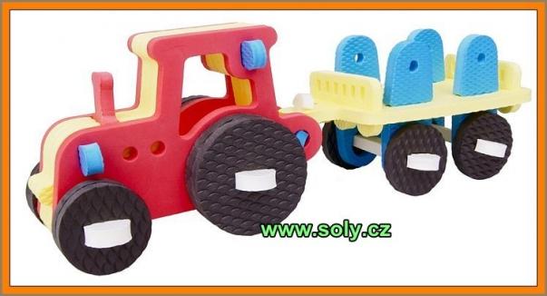 Traktor stavebnice z pěny CZ výroby