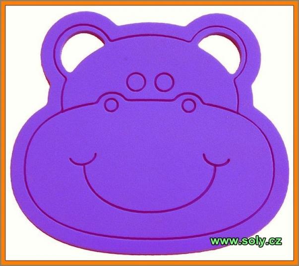 Dětský podsedák hroch fialový CZ výroby
