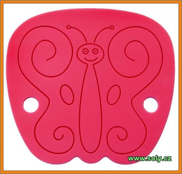Dětský podsedák červený motýlek CZ výroby
