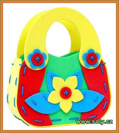 Dětská kabelka - pěnová skládačka, hračka pro holčičky