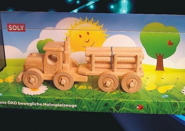 Dřevěná hračka TIR kamion, nákladní auto