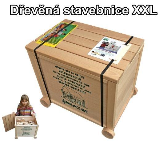 XXL oblíbená dětská dřevěná stavebnice Walachia