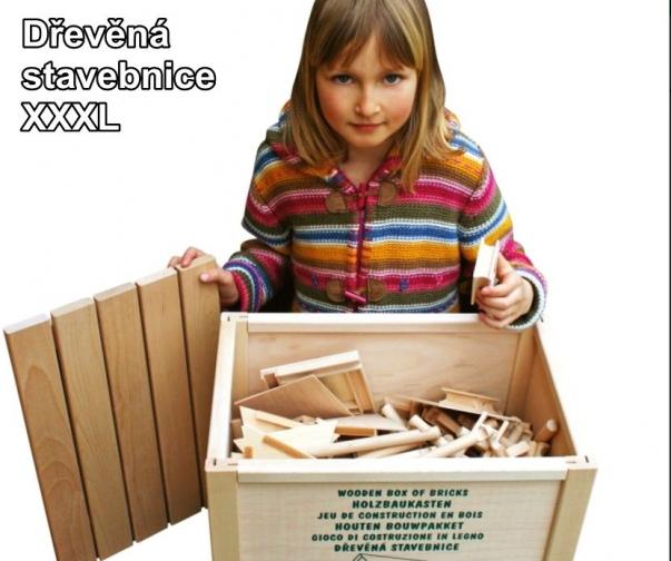 XXXL 450 dílků ve dřevěné stavebnici pro děti