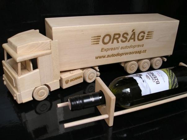 Víno, alkohol kamion, dárek pro řidiče kamionu