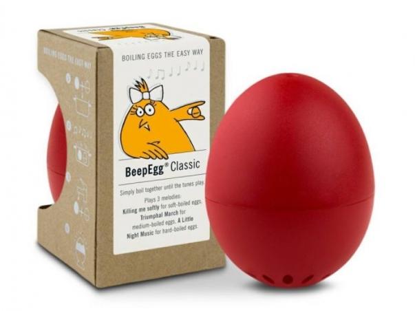 Vařiče vajíček BeepEgg červený. Uvaří naměkko, středně i  vejce na tvrdo..