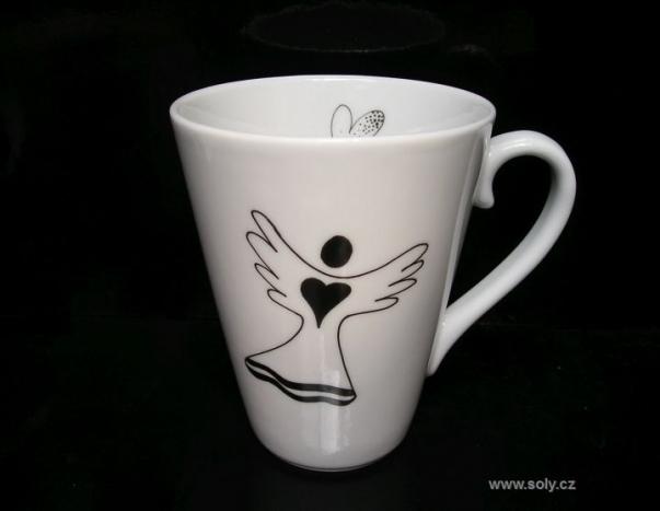 Hrnek z porcelánu s motivem anděla 0,2 l
