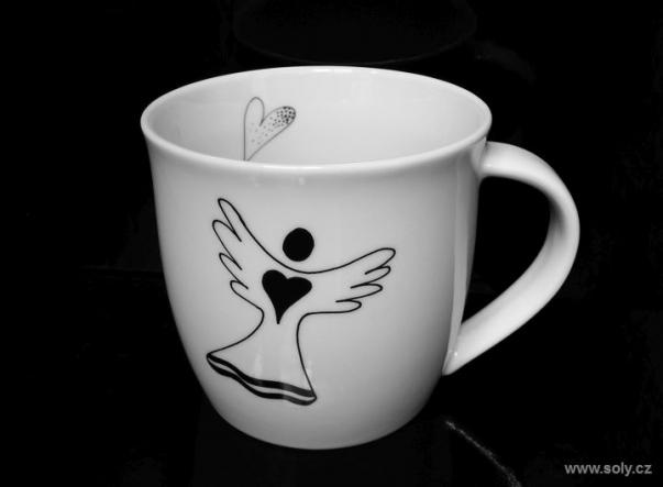 Hrníček z porcelánu anděl 0,35 l
