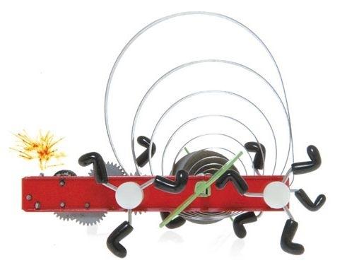 Awika - horolezec s jiskrou. Plechová hračka na klíček